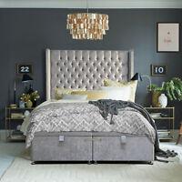 Luxury Ottoman Divan Storage Bed Single Double King Size