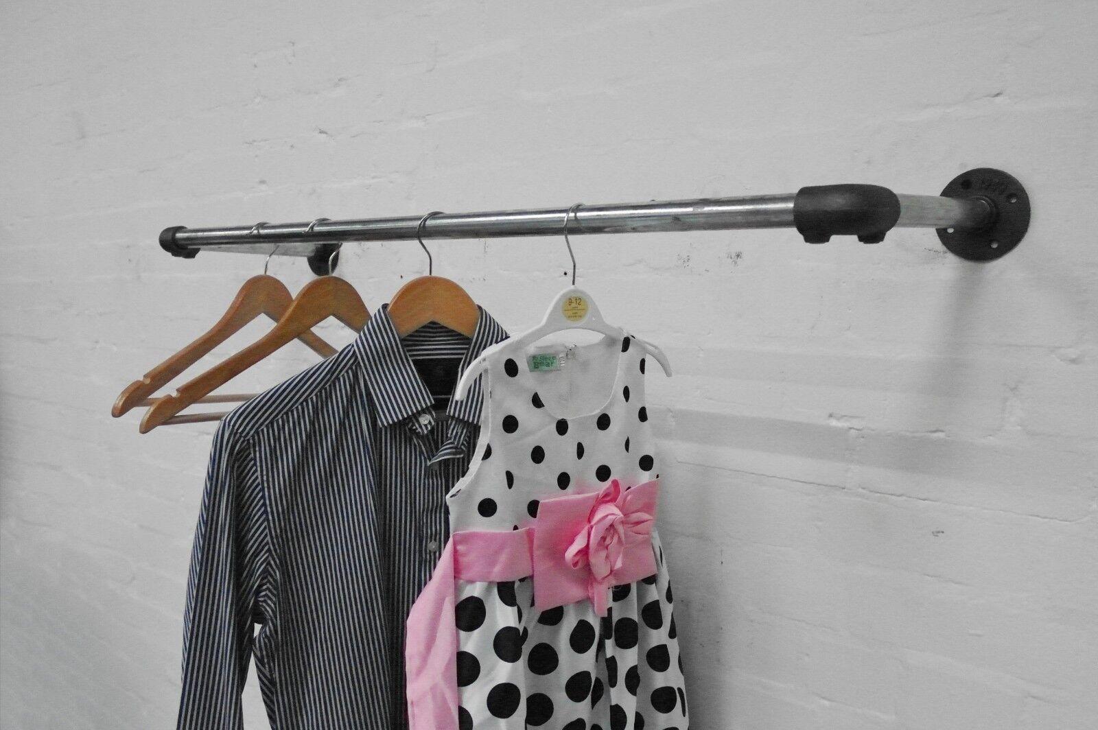Carril de ropa vintage-hecha de plata y negro Abrazadera clave clave Abrazadera industrial accesorios de tubería fa5870