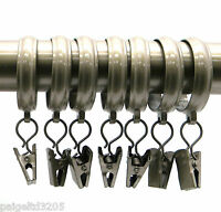 Jaclyn Smith 7 Clip Metal Curtain Panel Rings - Wrought Gold 1.18 In