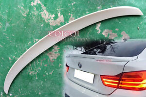 Painted#300 white BMW 4-Ser F36 Gran Coupe Performance-Type Trunk Spoiler