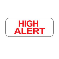 High Alert Labels In Blister Packs high Alert Stacked Text 1000 Roll on sale