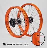 Ktm Front-rear Wheel Set 105-690 (excludes 520 & 640 Adventure) Wheels Black Hub