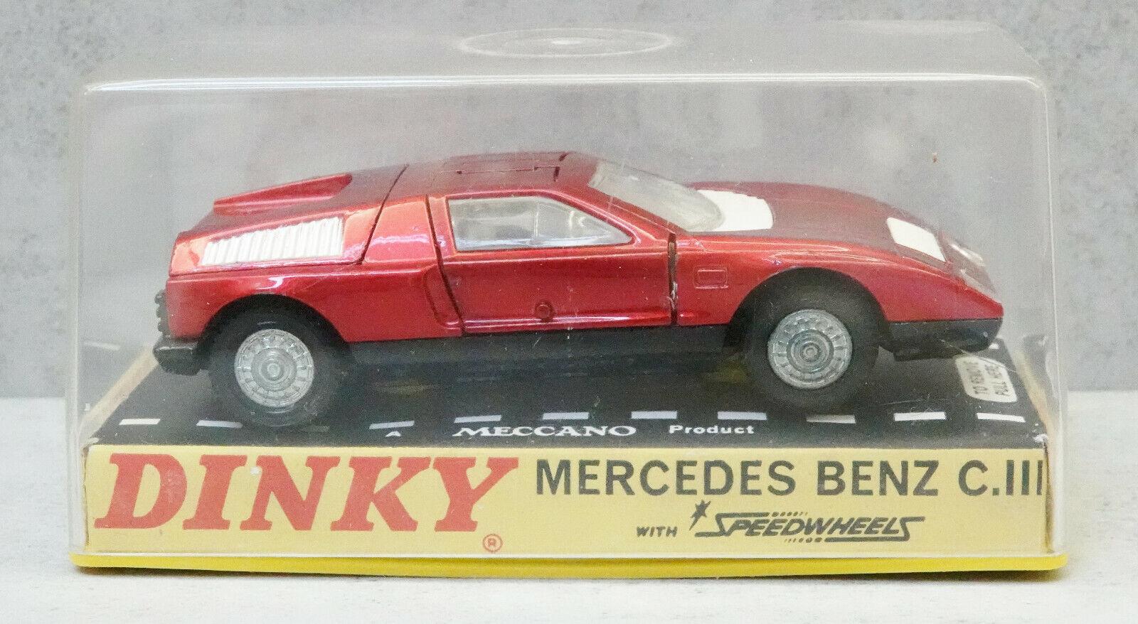 Original Dinky 224 Mercrdes Benz C.III rot Near Mint Boxed