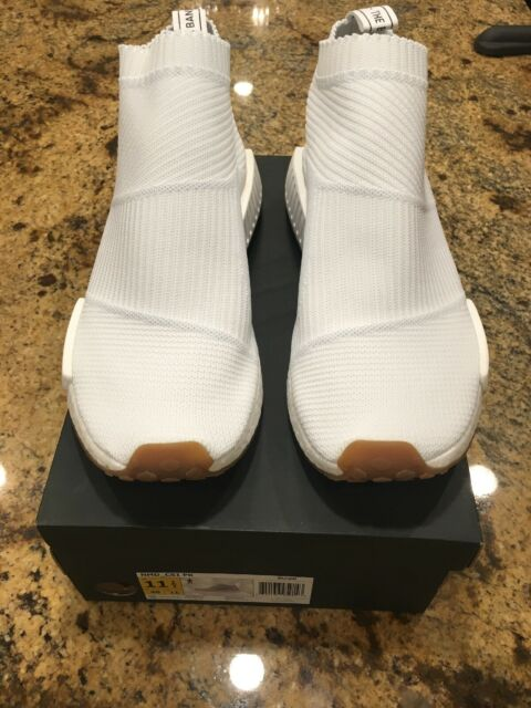 RARE Adidas NMD CS1 City Sock PK Primeknit White Gum BA7208 Ultra Boost Size 12