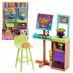 Set Art Studio e Accessori | Barbie | Mattel FJB26 | Arredamento per la casa