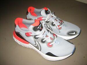 Mens-Nike-Renew-Run-Running-Shoes-Sneakers-Gray-White-Red-CK6357-401-Size-Men-13