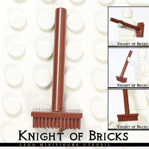 Lego Minifigure BROWN Utensil Push Broom Garbage Cleaner Tool House