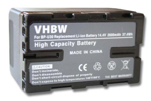 Batería 2600mAh Para Sony PXW-FS5 PXW-FS7 PXW-FS7M2 PXW-FS5K