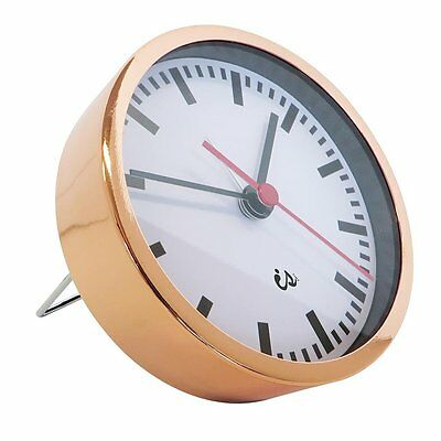 Alarm Clock Copper with Red Sweep Second Hand White New Mothers Day Gift