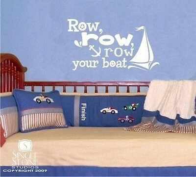 Row Your Boat Wall Decal - Vinyl Sticker Art