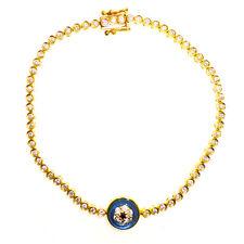 """18K Rose Gold 1.0Ct Diamond Evil Eye Bracelet 7"""""""