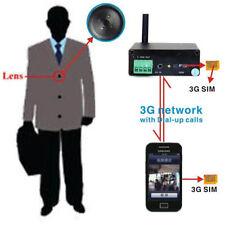 3G Button Spy Camera Hidden Wireless SIM GSM Cheat Exam Spion Kamera Versteckt