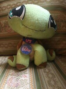 Littlest Pet Shop Vip Plush Turtle Stuffed Animal Mint Condition With Code Ebay