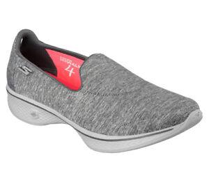 NEU SKECHERS Damen Fitness Sneakers Loafer Slipper Stoff GO WALK 4 4 WALK ... 3f662c