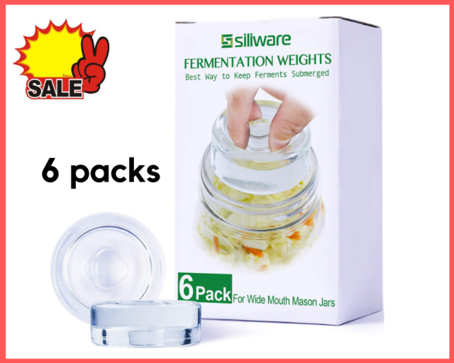 Fermentation Weights Glass for Any Wide Mouth Mason Jars, Fermentation Kit