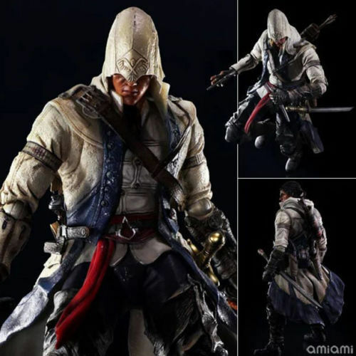 10  ASSASSIN'S CREED 3 - CONNOR KENWAY PLAY ARTS KAI VARIANT ACTION FIGURE TOYS