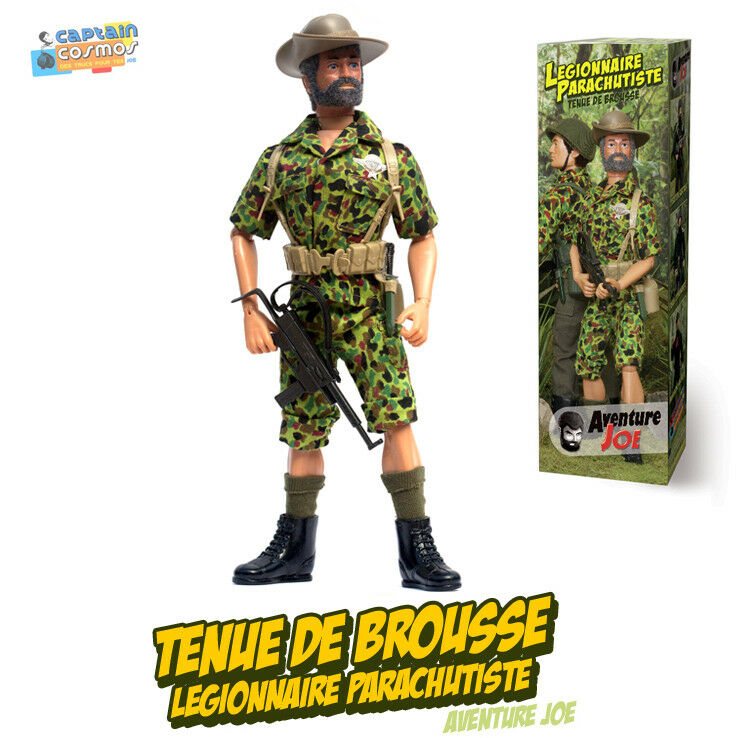 Aventure Joe TENUE DE BROUSSE BERET green repro neuve Group Action outfit only