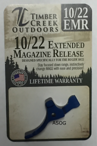 ANODIZED RED RUGER 10//22 XL EXTENDED MAGAZINE RELEASE LEVER TIMBER CREEK