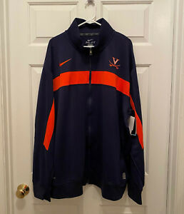 NWT-Virginia-UVA-Cavaliers-Football-Team-Issued-Nike-Dri-Fit-Blue-Jacket-3XL