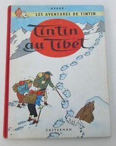 TINTIN-HERGE-TINTIN-AU-TIBET-EO-BELGE-B29-1960-ASSEZ-BON-ETAT