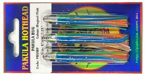 Rigging available 3 Pack of Lures Tuna Lures Magnet Pink Pakula Bug