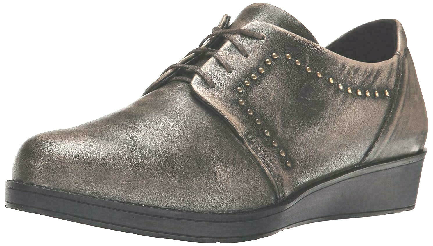Naot Embrace Flat Vintage grigio Leather, Dimensione 35 EUR   4.5 US