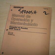 Spanish Espanol Caterpillar 966f Front End Wheel Loader Operator Manual Guide