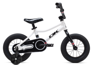 """2020 DK Devo 12/"""" Complete Kids BMX Bicycle With Training Wheels White"""