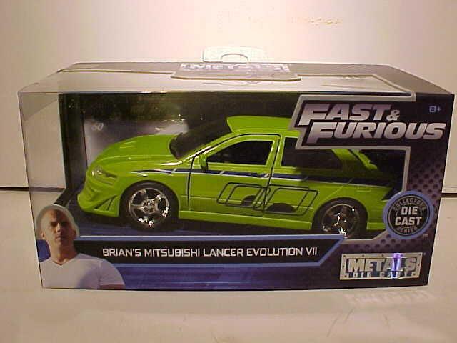 Mitsubishi Lancer Evolution VII Fast /& Furious Brian 1:32 Jada Toys 99789