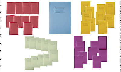 A4 EXERCISE BOOK SCHOOL NOTEBOOK 80 PAGES FOR CLASS CHILDREN HOMEWORK Pack 1//2//4