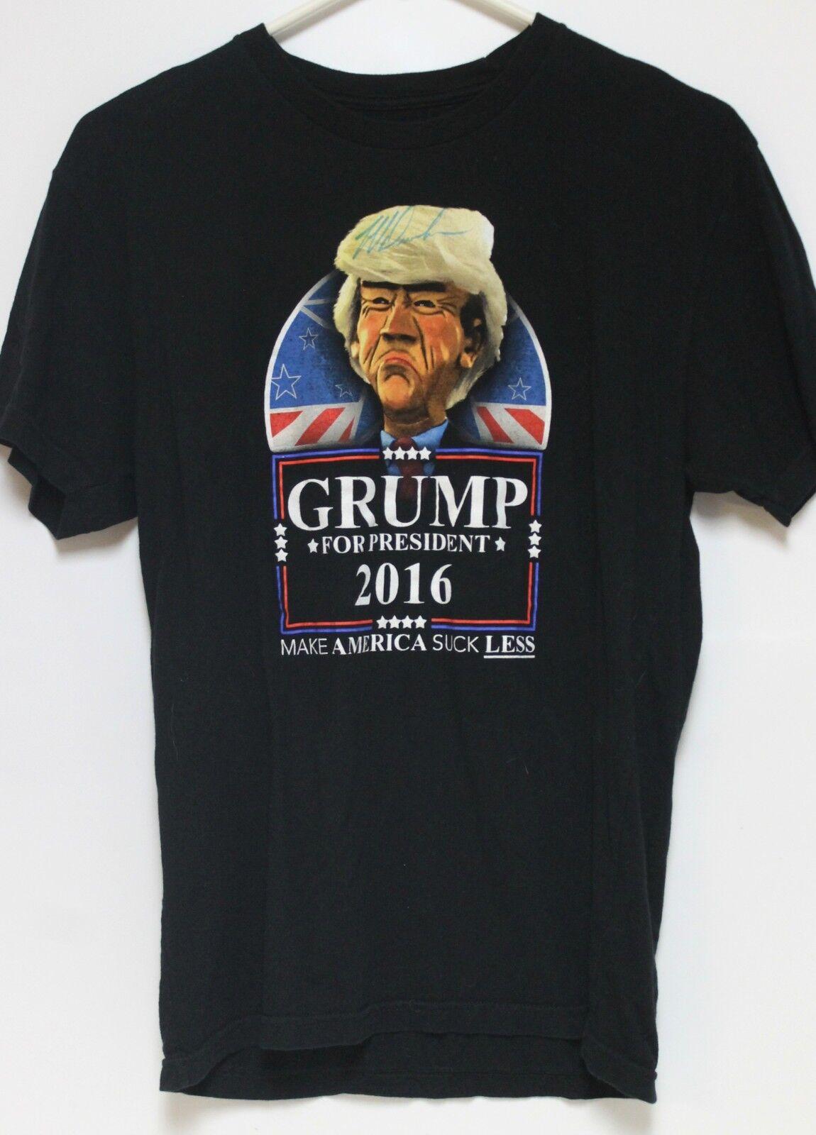 Jeff Dunham Signed T Shirt Walter Grump President 2016 Small