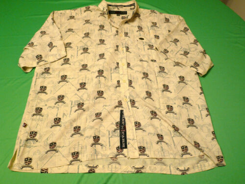 Mens Vintage Yellow  Phat Farm Nylon Designer Shir