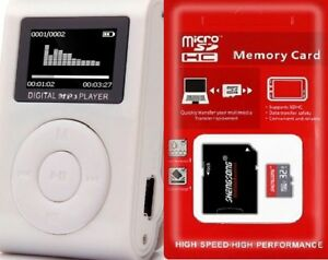 32GB-Mini-Mp3-Player-mit-LCD-Display-plus-32GB-TF-Karte-Speicherkarte-Micro-SD