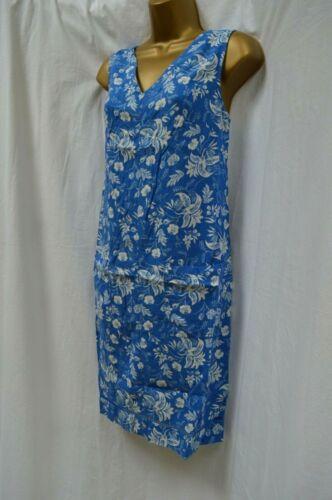 NEW NEXT SHIFT TUNIC SUN DRESS PINK PEACH BLUE GREEN SUMMER LINEN BLEND 6-22