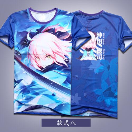 Anime Fate//Grand Order Saber T-shirt Unisex Short Sleeve Full Print Tee #p6gd