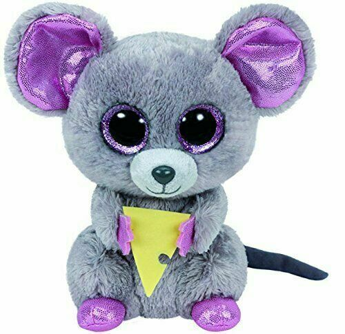 Ty Beanie Babie Boos 6 Squeaker The Mouse Pink Glitter Eyes 2015 Retired For Sale Online Ebay