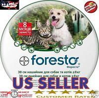 3 X Bayer Seresto Foresto Flea & Tick Collar For Small Dogs & Cats Under 18lbs