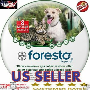 Bayer Seresto Foresto Flea Tick Collar for Small Dogs and Cats under 18lbs