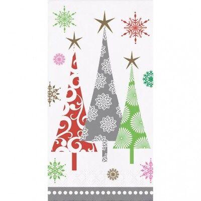 Contemporary Christmas Tree.Contemporary Christmas Trees Guest Dinner Napkins 16 Pack Winter Party Decor 39938523756 Ebay