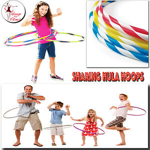 Hula Hoops Multicolored Printed Indoor Outdoor Fitness Gymnastic Boy Girls Kids Sporting Goods Fitness, Running & Yoga