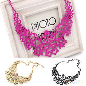 Fashion-Womens-Retro-Vintage-Hollow-Pendant-Bib-Choker-Necklace-Statement-Chain