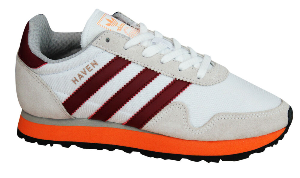 Adidas Originals Haven Baskets Homme à Lacets Chaussures Textile Mesh en daim BB2737 M17-
