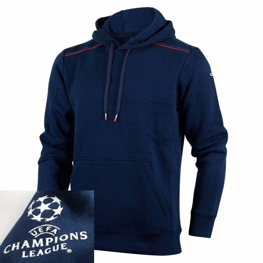 ADIDAS CON CAPPUCCIO SHIRT HOODIE UCL BLU UOMO CHAMPIONS LEAGUE UEFA