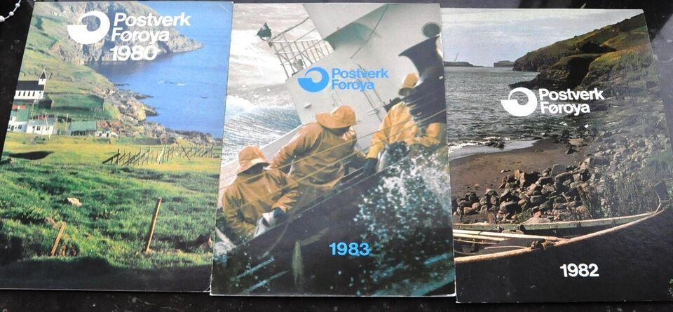 Færøerne, postfrisk, ÅRSSÆT