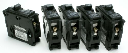 NEW 5 LOT SIEMENS BREAKER Q115 15A 1 pole 120//240 V Thermal Magnet USA ships CA