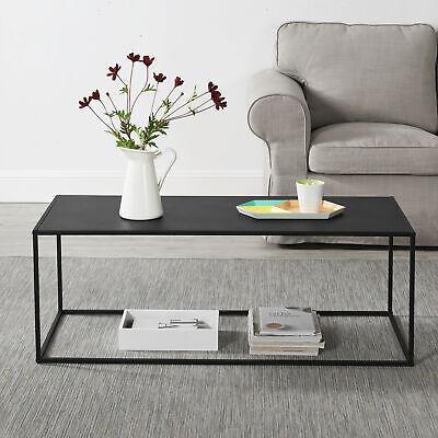 En Casa Couchtisch Schwarz Metall Tisch Beistelltisch