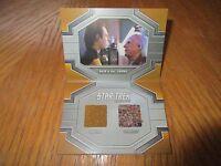 2017 Star Trek 50th Anniversary Data & Dr. Soong Dual Relic Book Card Drc1