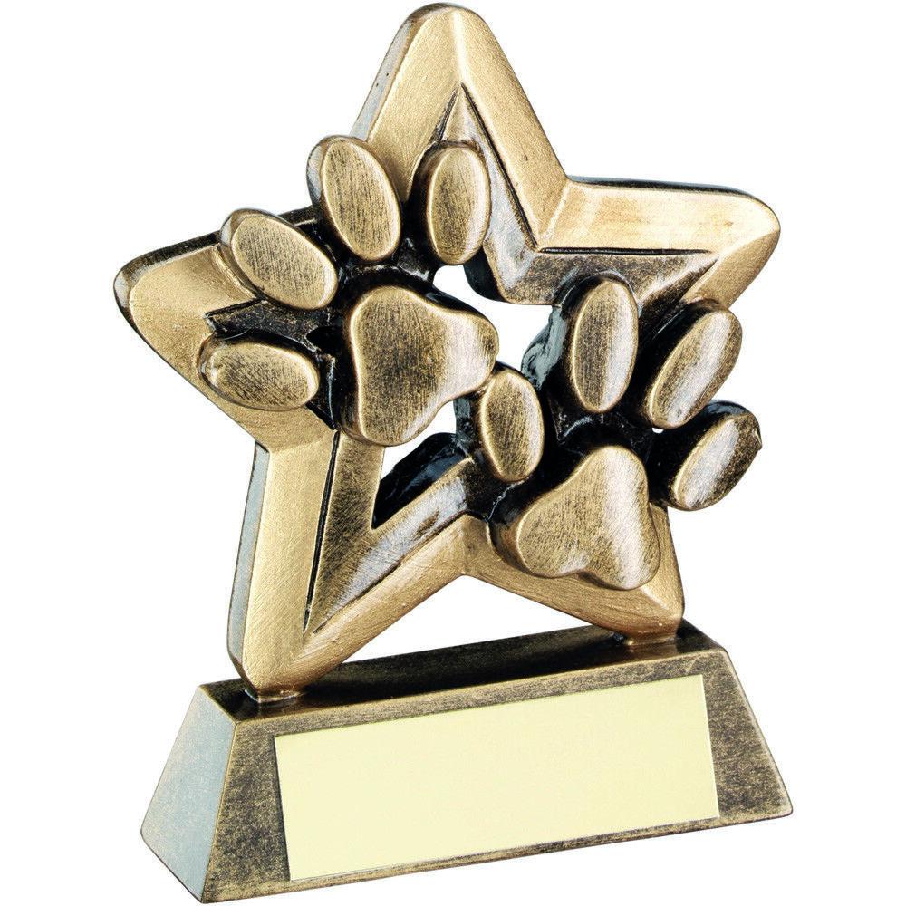 Mini étoile Show CHIEN TROPHÉE PATTE agilité Show étoile Award - gratuite GRAVURE Budget dd6038