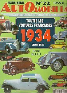 100% De Qualité Automobilia Hs 22 Toutes Les Voitures Francaises 1934 (salon 1933) Brillant