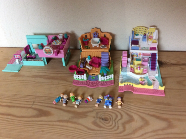 Polly Pocket, Vintage Polly Pocket, SOLGT - -  3 retro…